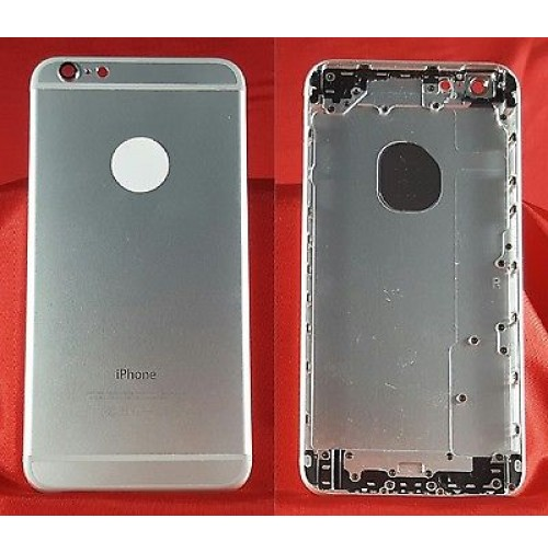 BACK COVER SCOCCA POSTERIORE COPRI BATTERIA APPLE IPHONE 6 PLUS ARGENTO SILVER