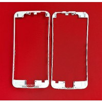 FRONT COVER FRAME CORNICE PER LCD APPLE IPHONE 6 BIANCO WHITE