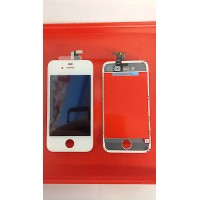 LCD SCHERMO DISPLAY E TOUCH SCREEN APPLE IPHONE 4 BIANCO WHITE