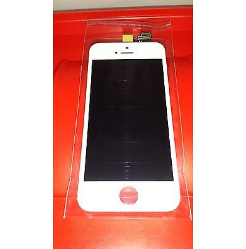 LCD SCHERMO DISPLAY FRAME E TOUCH SCREEN APPLE IPHONE 5 BIANCO WHITE