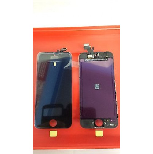 LCD SCHERMO DISPLAY FRAME E TOUCH SCREEN APPLE IPHONE 5 NERO BLACK