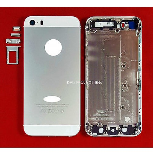 REAR COVER POSTERIORE COPRI BATTERIA APPLE IPHONE 5S WHITE SILVER BIANCO