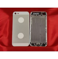 REAR COVER SCOCCA POSTERIORE COPRIBATTERIA APPLE IPHONE 5 BIANCO WHITE